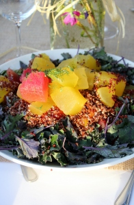 kale quinoa melon dill