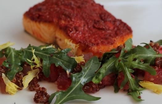 salmon achiote
