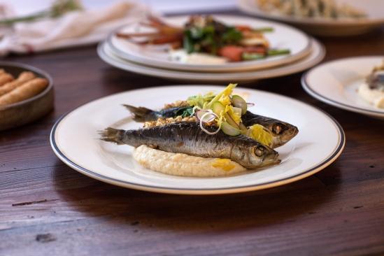 sardines and celery